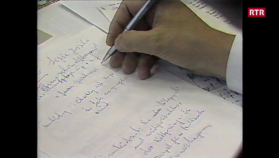 Redactur senza vusch a la fiasta 1988 a Breil