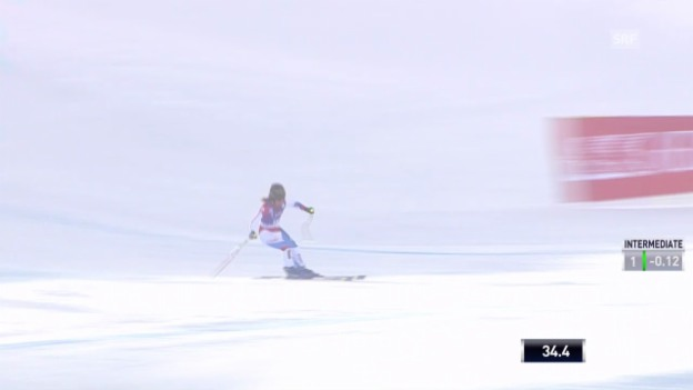 Video «Ski: Die Fahrt von Fabienne Suter in Val d'Isere» abspielen