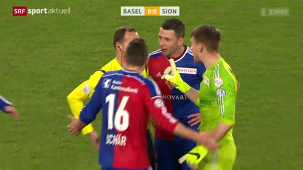 Video «Fussball: Die umstrittene Penaltyszene bei Basel - Sion» abspielen