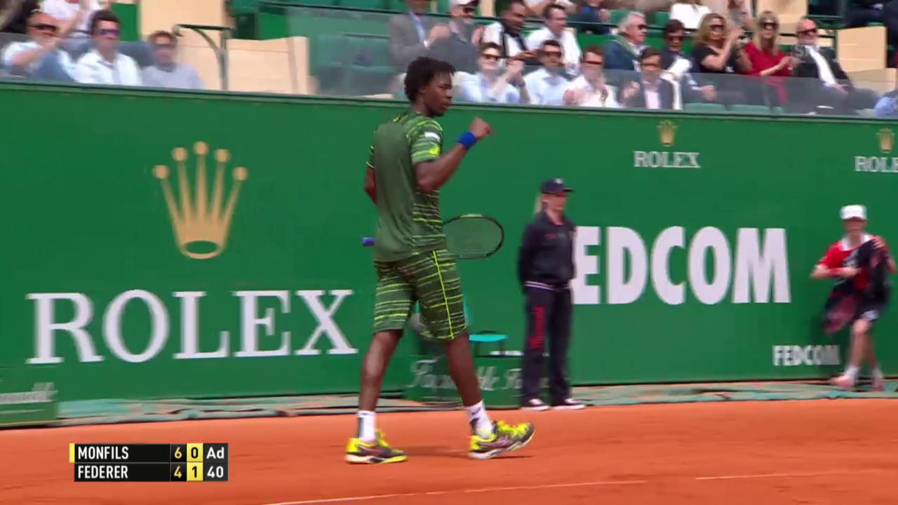 Tennis: Monte Carlo, schöner Punkt Monfils gegen Federer