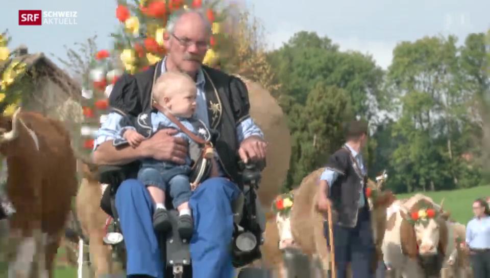 Bauer trotzt Rollstuhl