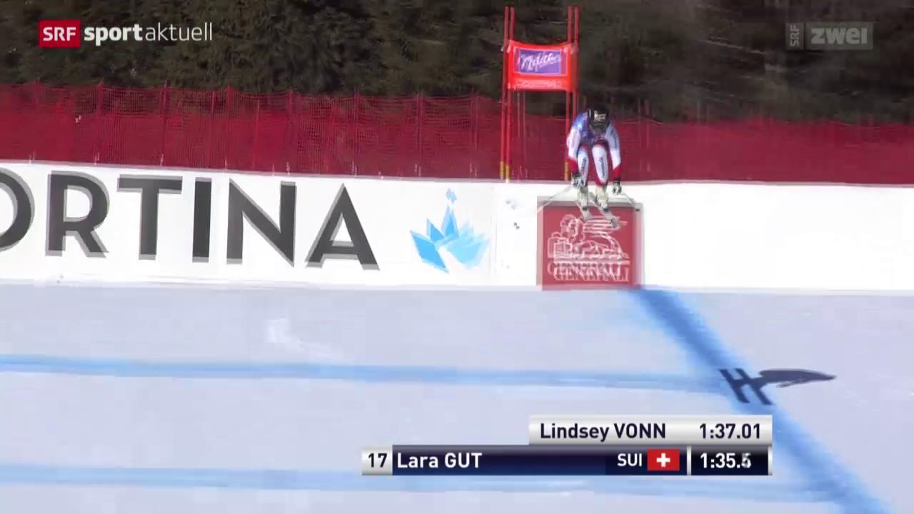 Gut bei weiterem Vonn-Sieg in Cortina Dritte