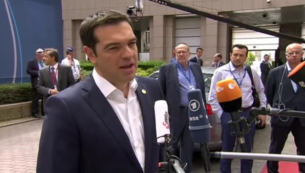 Video «Tsipras: «Zuversichtlich, dass wir einen Kompromiss erreichen»» abspielen