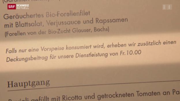 Video «Strafgebühr in Zürcher Restaurant» abspielen