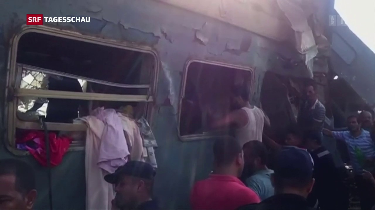 Tödliches Zugunglück in Alexandria