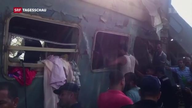 Video «Tödliches Zugunglück in Alexandria» abspielen