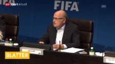 Video «Fussball: Sepp Blatter kandidiert erneut («sportaktuell»)» abspielen