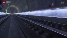 Video «Erste Fahrt auf der Durchmesserlinie» abspielen