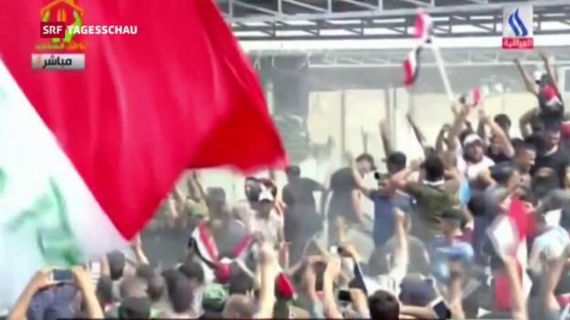 Video «Parlament in Bagdad gestürmt» abspielen
