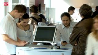 Video «Swisscom büsst an Umsatz und Gewinn ein» abspielen