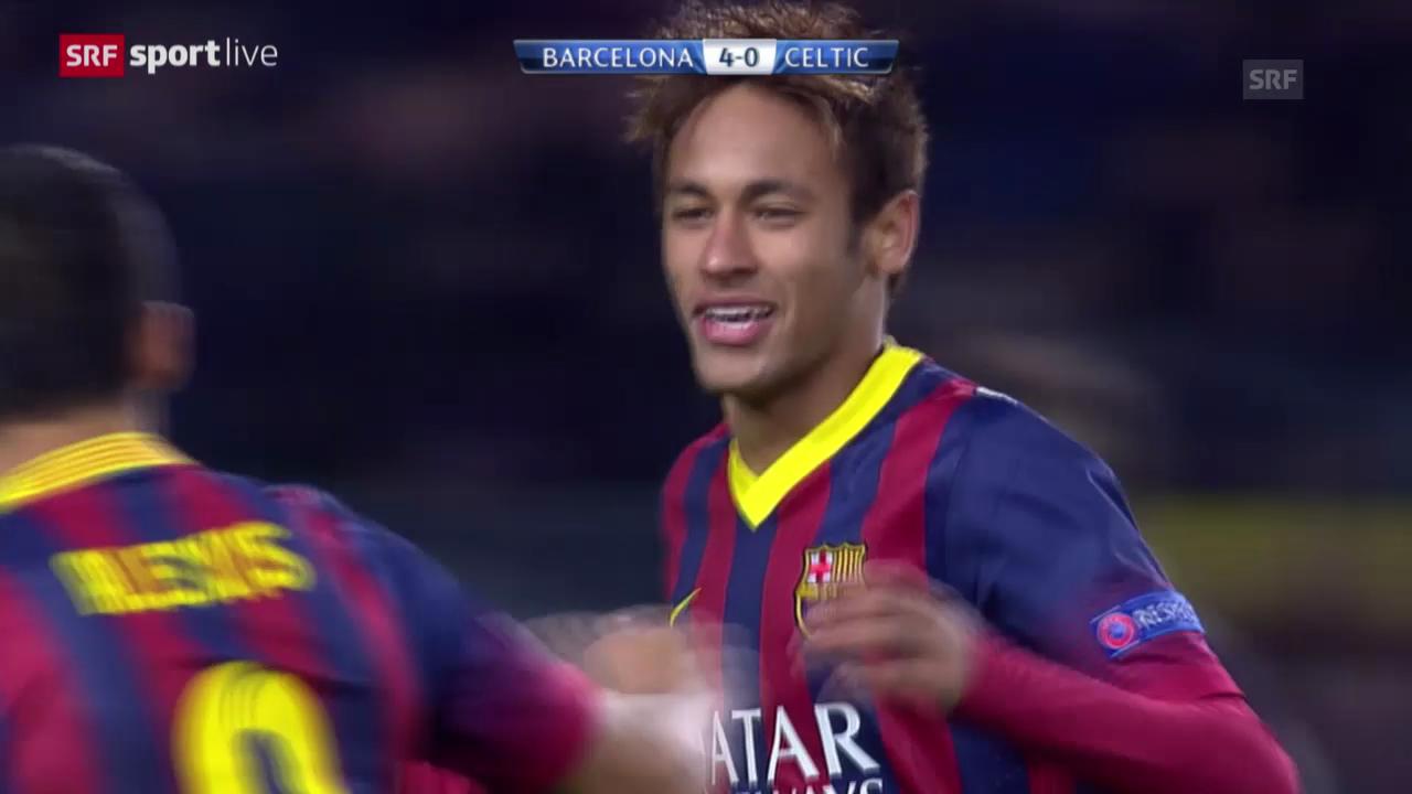 Fussball: CL, Barcelona - Celtic («sportlive», 11.12.2013)