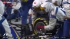 Video «Formel 1: Sauber übt Boxenstopps» abspielen