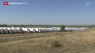 Video «Ukrainische Hilfskonvoi-Inspektion » abspielen