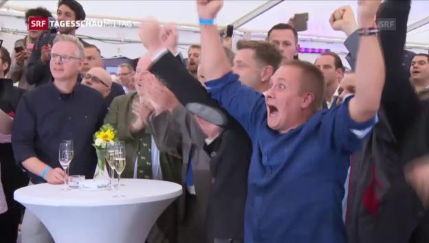 Video «AfD feierte Wahlerfolg in Mecklenburg-Vorpommern» abspielen