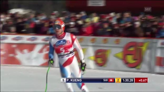 Video «Männer-Abfahrt in Kvitfjell: Fahrt von Patrick Küng («sportlive»)» abspielen