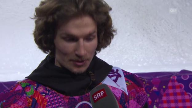 Video «Snowboard Halfpipe: Interview mit Iouri Podladtchikov (sotschi direkt, 11.02.2014)» abspielen