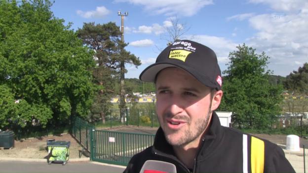 Video «Polesetter Tom Lüthi vor dem GP in Le Mans» abspielen