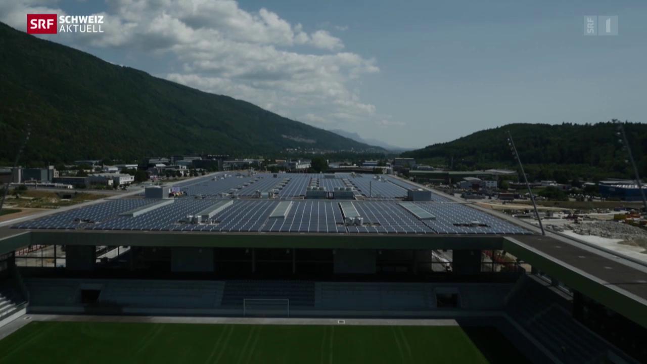 Weltrekord-Solarkraftwerk in Biel