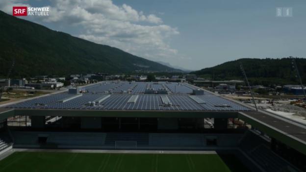 Video «Weltrekord-Solarkraftwerk in Biel» abspielen