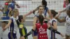 Video «Volero gewinnt 1. Finalspiel nicht ohne Mühe» abspielen