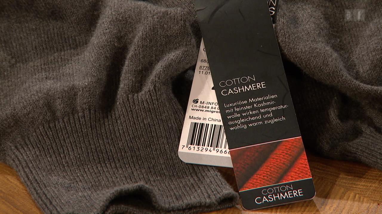Kaschmir-Pulli aus Baumwolle: Etikettenschwindel!