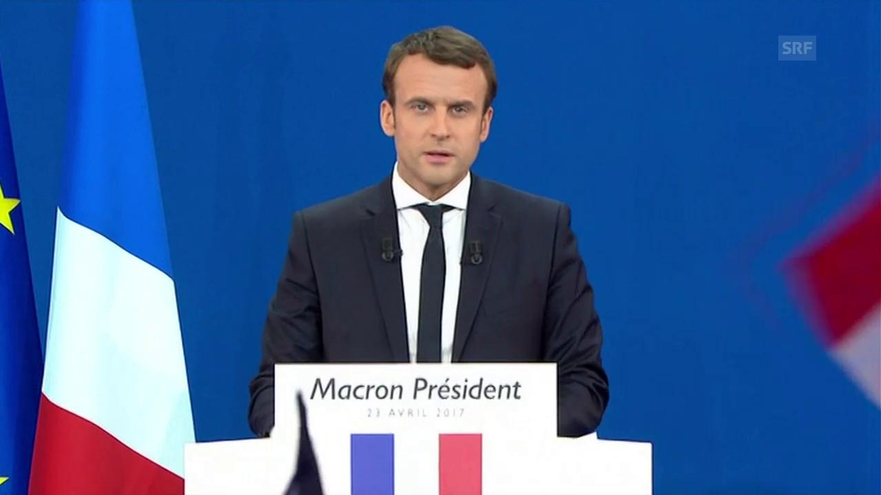 Die Rede von Emmanuel Macron (frz. Originalton)
