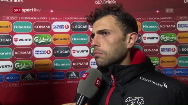 Video «Mehmedi: «Zum Glück hatte es noch ein paar Schweizer Fans»» abspielen
