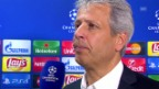 Video «Fussball: Favre nach 0:3 in Sevilla» abspielen