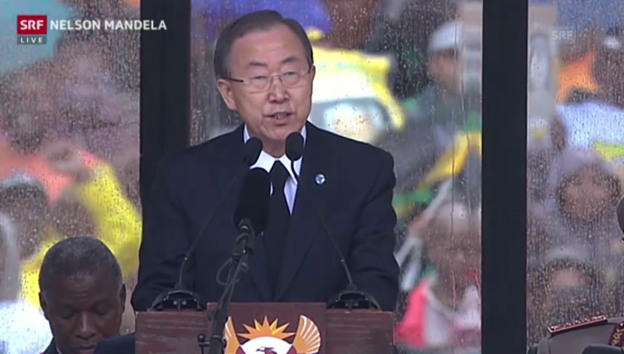 Video «Ban Ki Moon: «Die Welt hat eine Ikone verloren»» abspielen