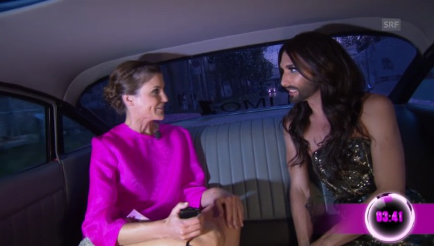 Video «Annina Frey: In der Limo mit Conchita Wurst» abspielen