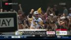 Video «Streit und seine Penguins feiern vor tausenden Fans» abspielen