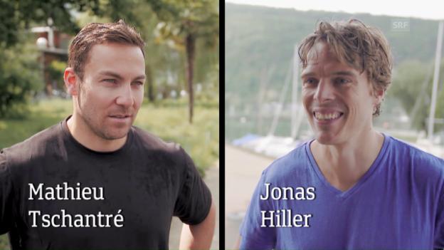 Video «Urgestein vs. Neuankömmling mit Tschantré und Hiller vom EHC Biel» abspielen