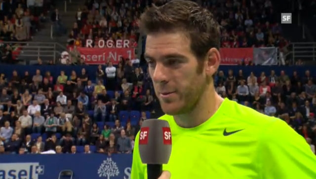 ATP Basel: Interview mit Del Potro (englisch)