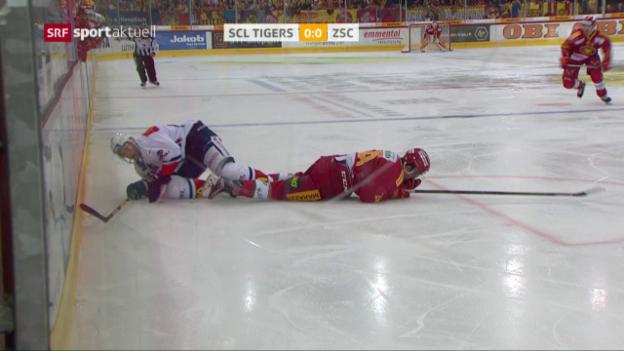 Video «ZSC Lions siegen in Langnau in extremis» abspielen