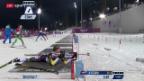 Video «Biathlon: Verfolgungs-Rennen der Frauen» abspielen