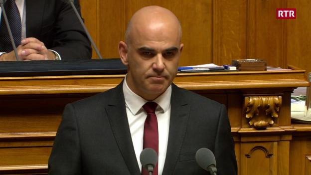 Laschar ir video «Alain Berset fa pled per Rumantsch»