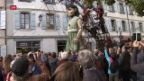 Video «Riesen-Marionetten in Genf» abspielen