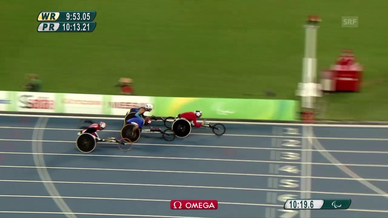 Marcel Hug gewinnt seinen Vorlauf über 5000 m