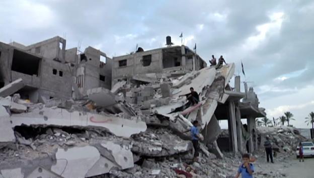 Video «Zerstörte Häuser in Gaza (unkommentiert)» abspielen