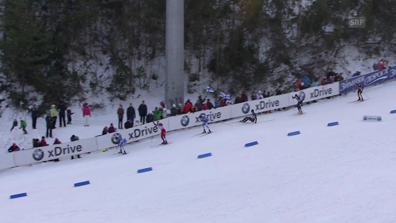 Langlauf: Sprint in Lahti, Viertelfinal mit Martin Jäger («sportlive», 1.3.14)