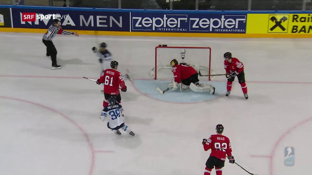 Schweiz - Finnland: Die Live-Highlights