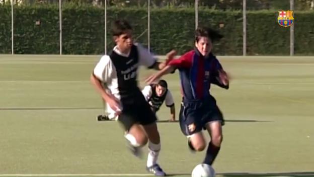 Video «Der junge Messi zaubert» abspielen