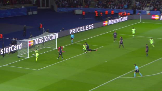 Video «Manchester City erkämpft sich ein 2:2 bei PSG» abspielen