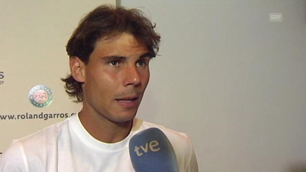 Video «Tennis: Nadal vor der Partie gegen Djokovic» abspielen