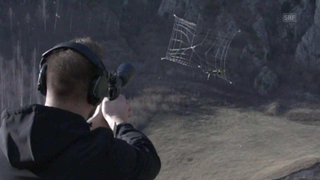 Der Schuss auf eine Drohne