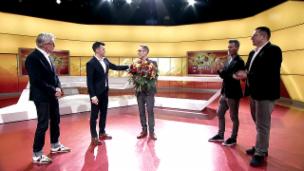Video «Hüppis letzte Sendung: Ein «Hopp Sanggalle» zum Schluss» abspielen