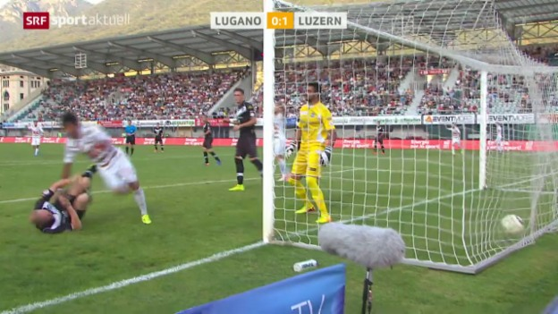 Video «Fussball: Super League, Lugano - Luzern» abspielen