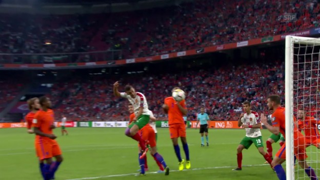 Video «Kostadinov vergibt den späten Anschluss gegen die Niederlande» abspielen