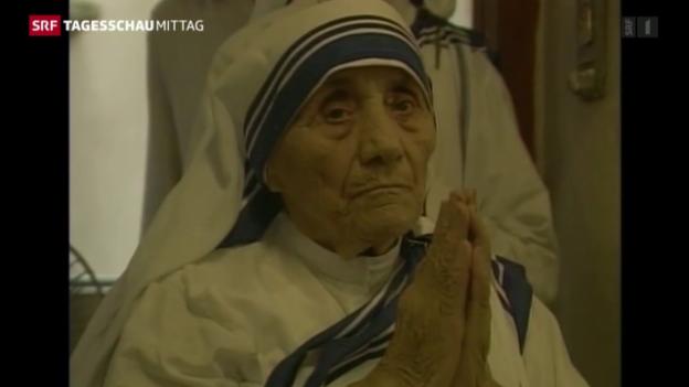 Video «Mutter Teresa wird heiliggesprochen» abspielen
