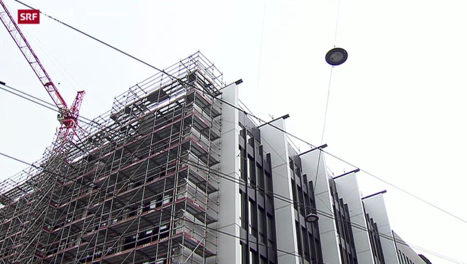 Unia bestreikt Bally-Baustelle